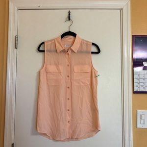 Equipment Signature Silk Sleeveless Shirt